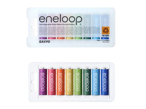 New Eneloop Batteries sport new colors