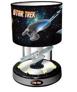 Animated musical Starship Enterprise Lamp
