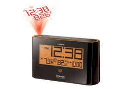 Elements Atomic Projection Alarm Clock with Indoor/Outdoor Thermometer