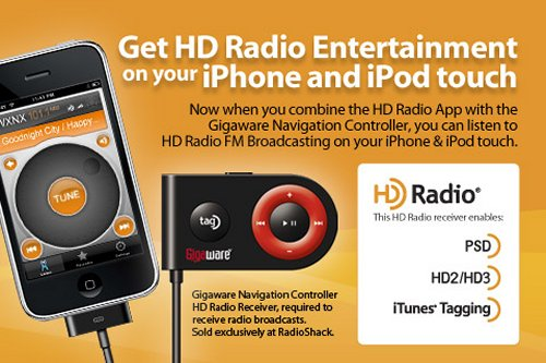 Gigaware adapter: HD Radio for iPod touch and iPhone