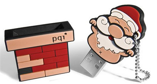 PQI limited edition Santa Claus on a Chimney USB flash drive