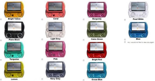 Survey reveals potential new PSP Go colors