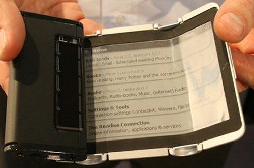 Readius-like ereader launching in 2010
