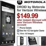 Motorola Droid for $149.99 at Sears
