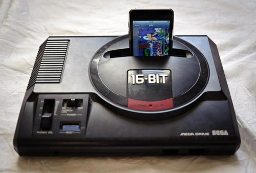 Sega Mega Drive iPhone dock
