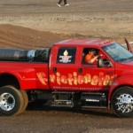 Rocket pickup truck with a jet engine