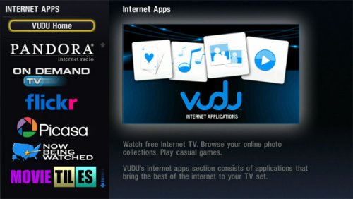 VUDU brings Pandora, Picasa and Flickr to connected HDTVs, more apps coming soon