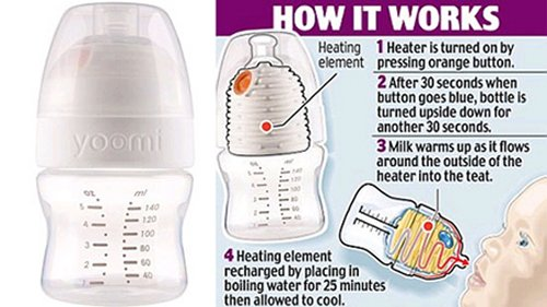 Yoomi self-heating bottle