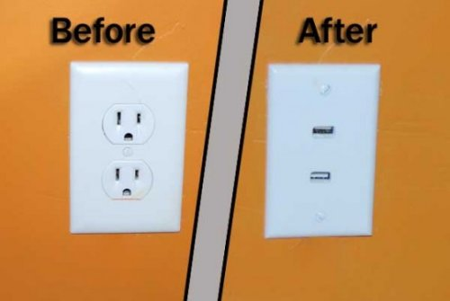 Convert your AC outlet into a USB outlet