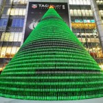 Christmas tree made from 1000 Heineken bottles