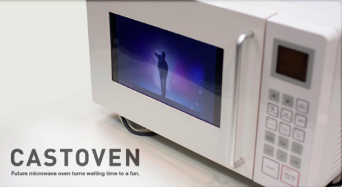 Microwave with built-in YouTube player