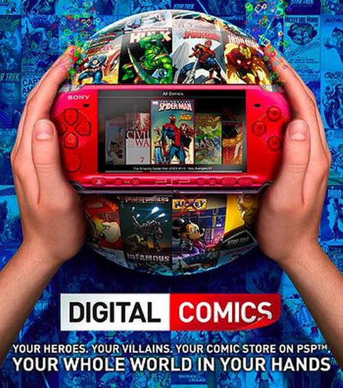 PSP Digital Comics launching in US today