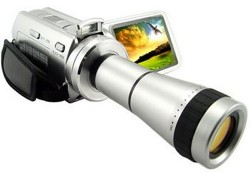 Digital Video Camcorder with optical telescope lens