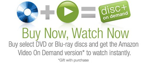 Amazon Disc+ on Demand: Buy a DVD, watch it instantly