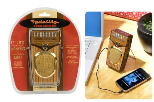 Fytone Vintage Mp3 Speaker and Transistor Radio
