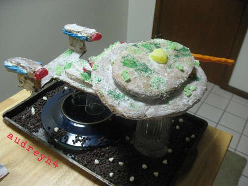 ... Gingerbread Star Trek Enterprise Part 58