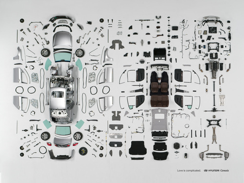 Hyundai Genesis dissected in time lapse video
