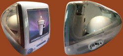 Coffeemaker, Mac mini and subwoofer gets shoved into an iMac DV case