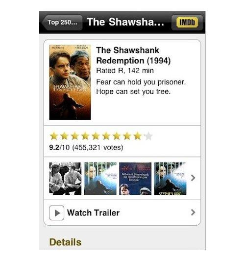 IMDB app for iPhone