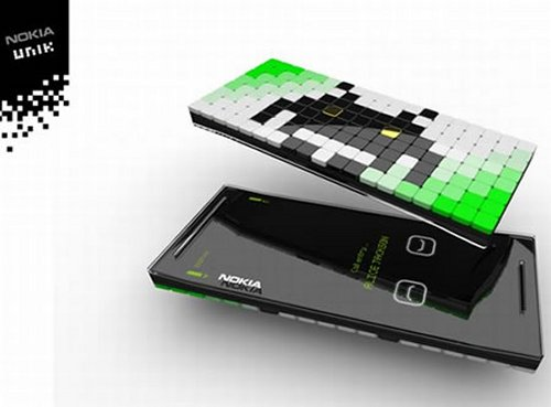 Nokia Unik concept phone changes texture to fit your mood