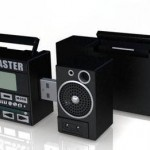 Rad Blaster Mini Boombox MP3 Player and flash drive