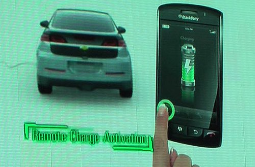 Chevy Volt gets cozy with iPhone and BlackBerry