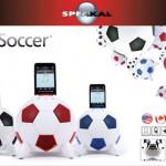 Speakal iPod dock is a soccer ball