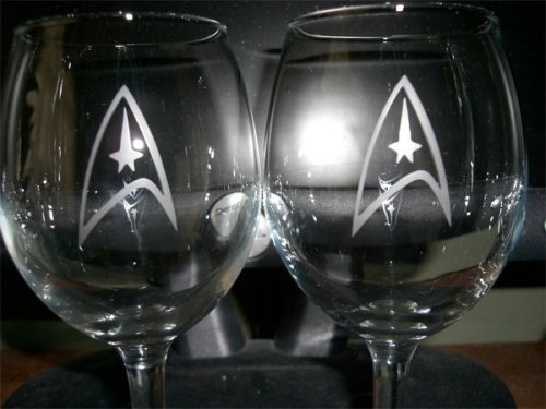 Star Trek wine glasses for the refined geek
