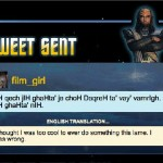 Translate tweets to Klingon