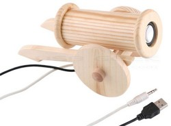 Wooden Cannon USB speaker