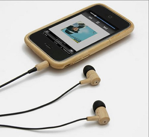 Fuubi wooden earphones