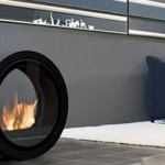 Commoto rolling fireplace