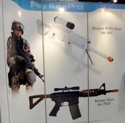 Wii And PS3 Sniper Gun Controllers