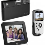 Kodak's 14 MP Slice touchscreen camera, Pulse digiframe and Playsport Camcorder