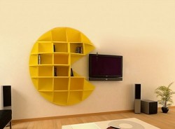 Pac-Man Bookcase: There goes your new HDTV