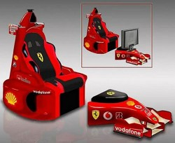 Ferrari F1 Chair goes nowhere fast