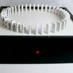 Ouroborus Domino sculpture rebuilds itself