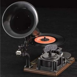 Gramophone record player and recorder