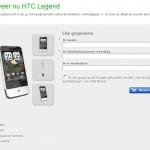 HTC Legend appears on Dutch website