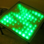 Twitter-enabled LED table
