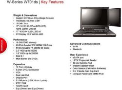 ThinkPad W701 and W701ds specs
