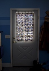 Create a Stained Glass curtain with old film slides