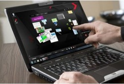 Toshiba Satellite U500-1EX laptop with Multi-Touch display