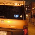 Wi-Fi detecting bumper sticker