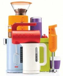 Bodum Bistro appliances are rugged, colorful