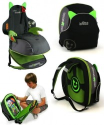 BoostApak lets your kid carry a booster seat in a backpack