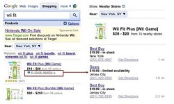 Google Mobile Search shows you what's in stock nearby