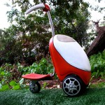 Crazy scooter lawn mower concept turns up