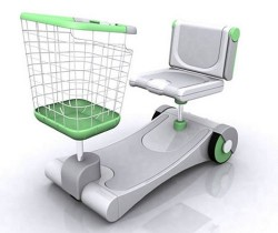 Supermarket Electric Vehicle concept makes shopping easier, shoppers fatter