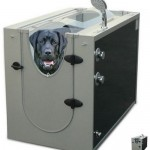 The Canine Shower Stall makes bathing your dog easy